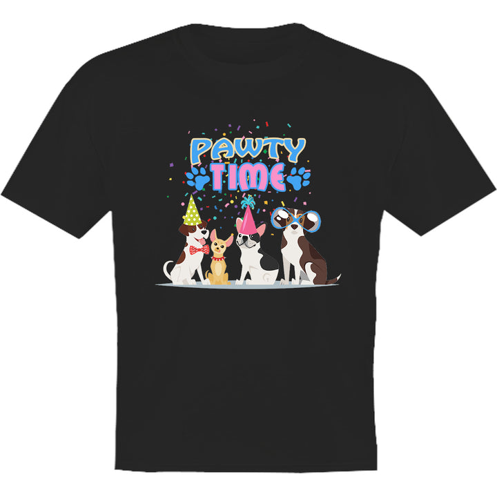 Pawty Time - Youth & Infant Tee - Graphic Tees Australia