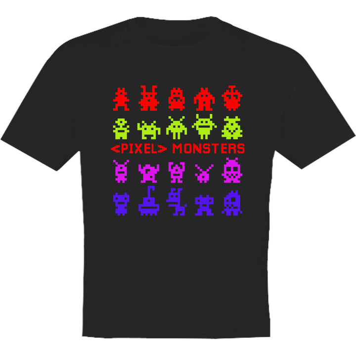 Pixel Monsters - Youth & Infant Tee - Graphic Tees Australia