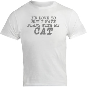 Plans With My Cat - Unisex Tee - Graphic Tees Australia