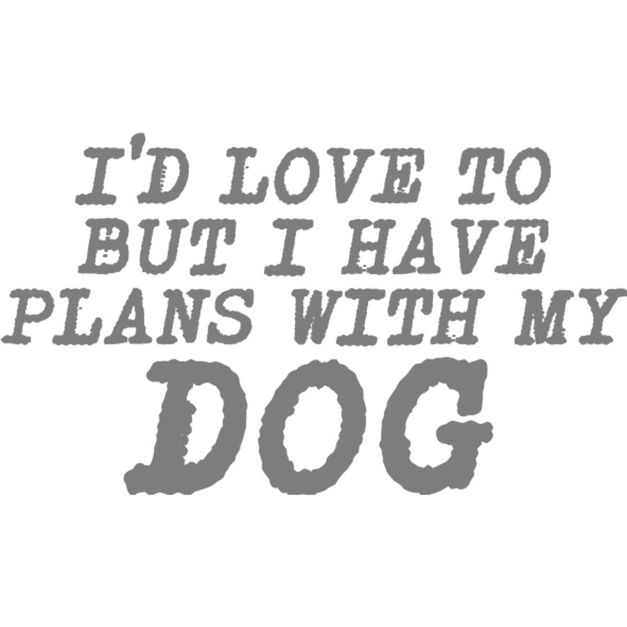 Plans With My Dog - Adult & Youth Hoodie - Graphic Tees Australia