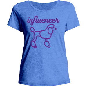 Poodle Influencer - Ladies Relaxed Fit Tee - Graphic Tees Australia