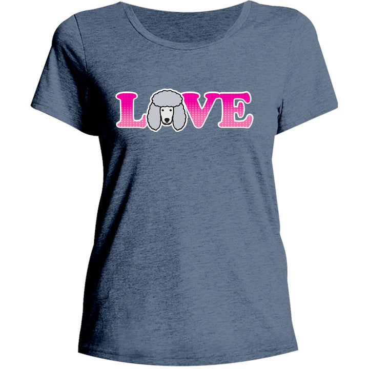 Poodle Love - Ladies Relaxed Fit Tee - Graphic Tees Australia