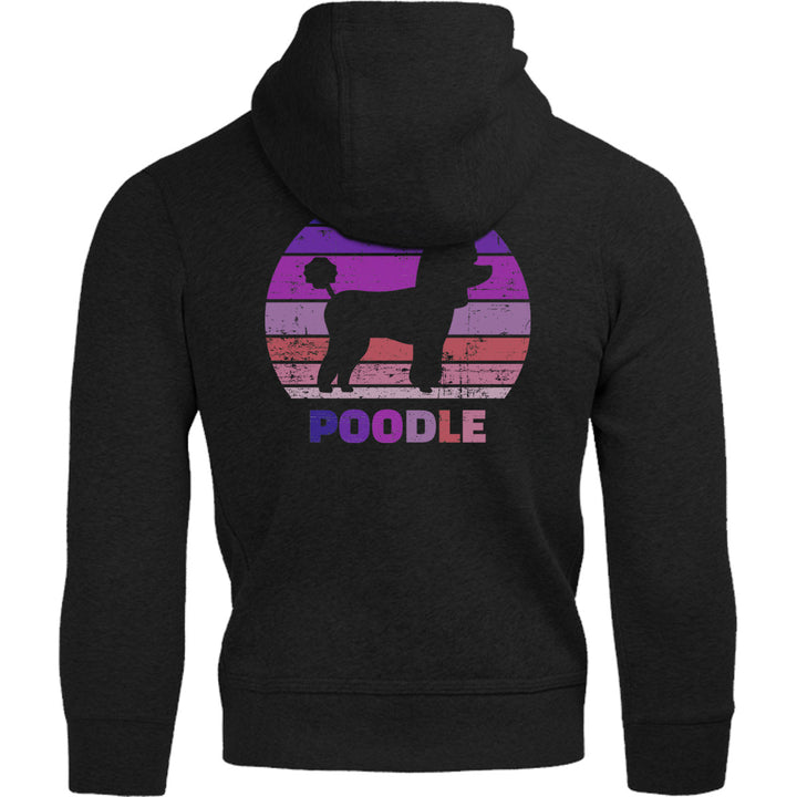 Poodle Silhouette Retro - Adult & Youth Hoodie - Graphic Tees Australia