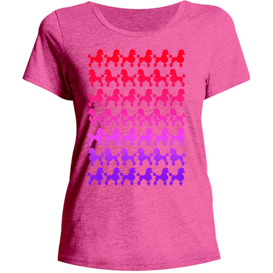 Poodles Silhouette - Ladies Relaxed Fit Tee - Graphic Tees Australia