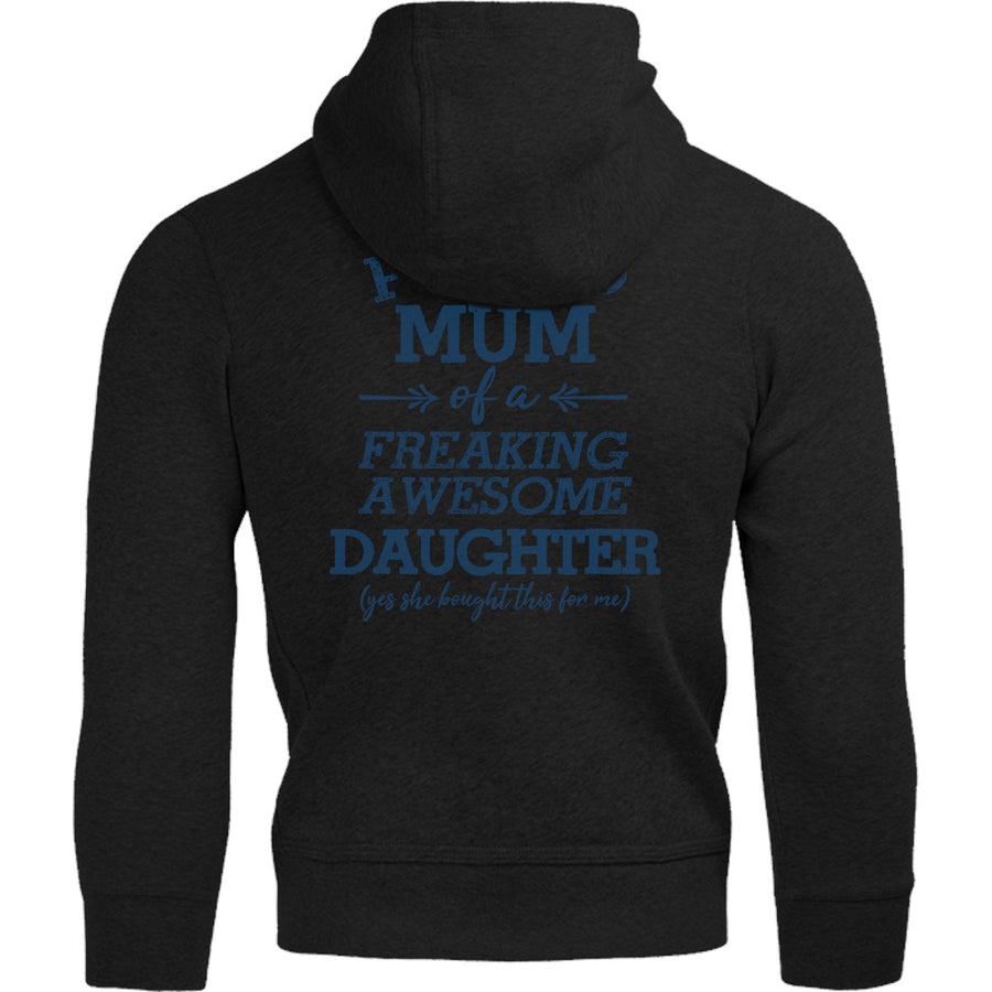 Proud Mum Awesome Daughter - Adult & Youth Hoodie - Graphic Tees Australia