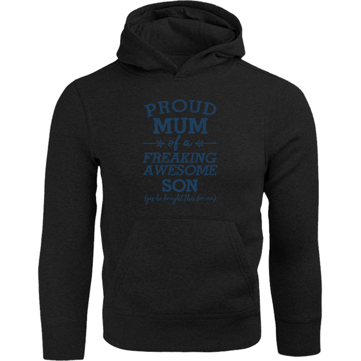 Proud Mum Awesome Son - Adult & Youth Hoodie - Graphic Tees Australia