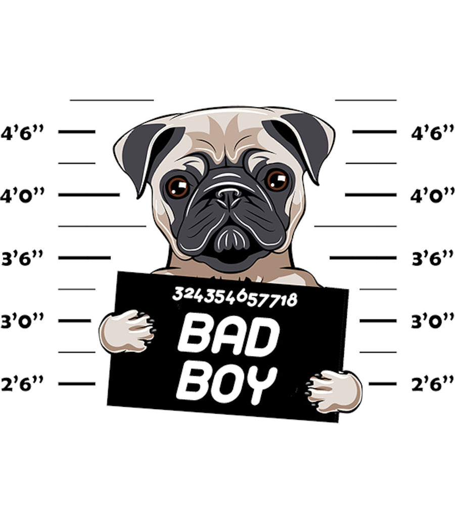 Pug Bad Boy - Ladies Relaxed Fit Tee - Graphic Tees Australia