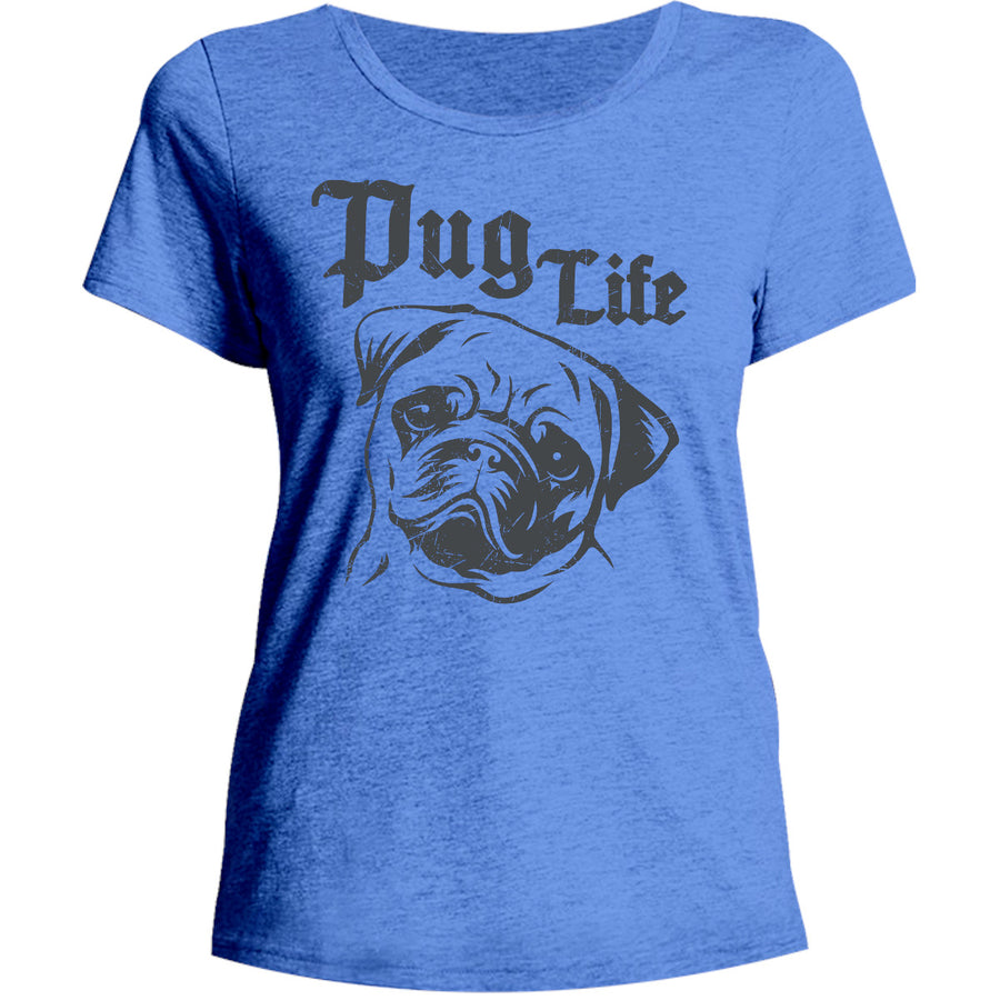 Pug Life - Ladies Relaxed Fit Tee - Graphic Tees Australia