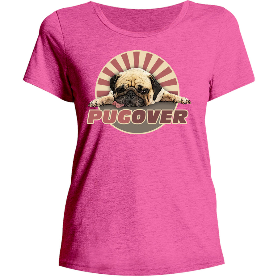 Pug Over - Ladies Relaxed Fit Tee - Graphic Tees Australia