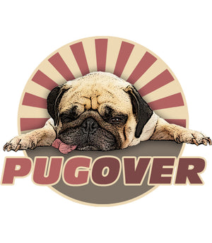 Pug Over - Ladies Slim Fit Tee - Graphic Tees Australia