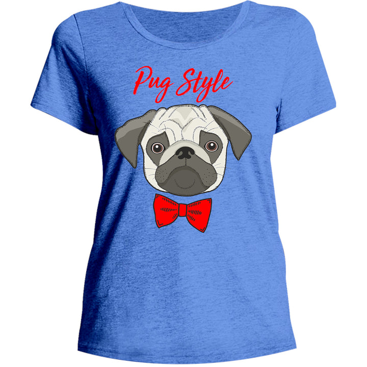 Pug Style - Ladies Relaxed Fit Tee - Graphic Tees Australia