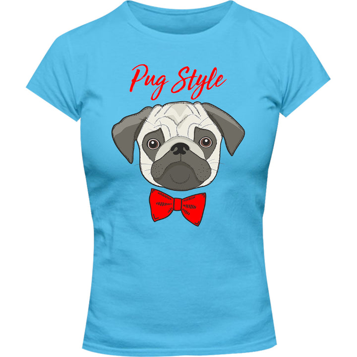 Pug Style - Ladies Slim Fit Tee - Graphic Tees Australia