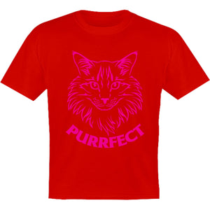 Purrfect - Youth & Infant Tee - Graphic Tees Australia