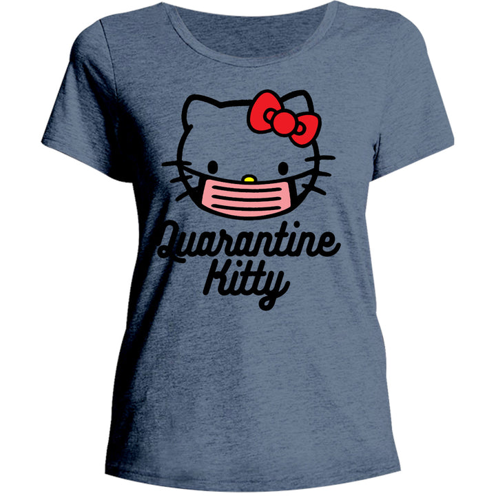 Quarantine Kitty - Ladies Relaxed Fit Tee - Graphic Tees Australia