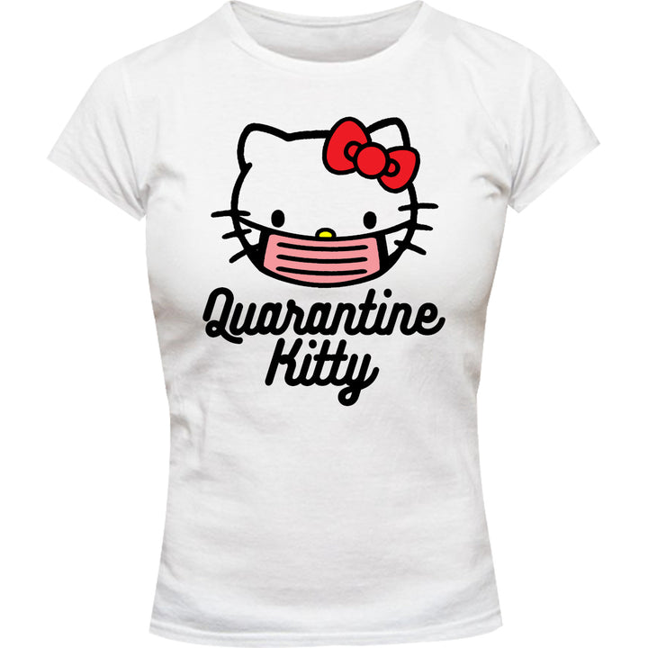 Quarantine Kitty - Ladies Slim Fit Tee - Graphic Tees Australia