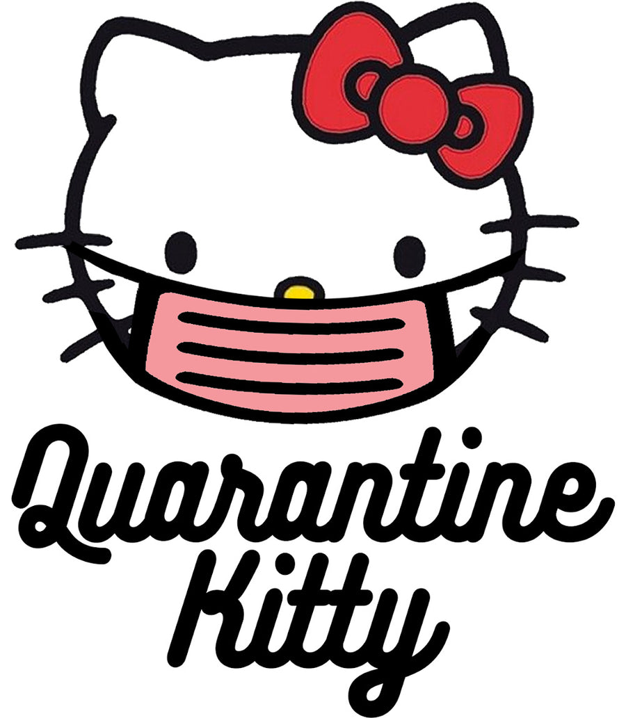 Quarantine Kitty - Adult & Youth Hoodie - Graphic Tees Australia