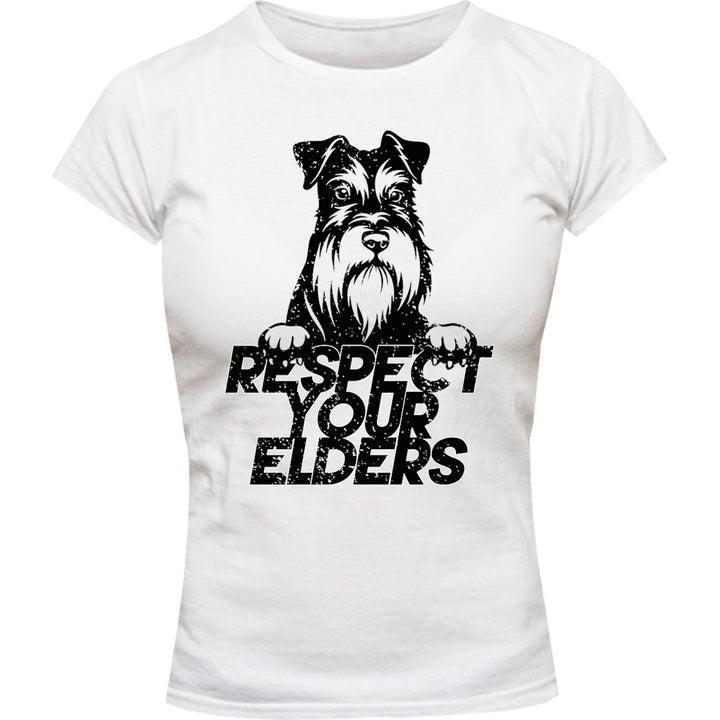 Respect Your Elders - Ladies Slim Fit Tee - Graphic Tees Australia