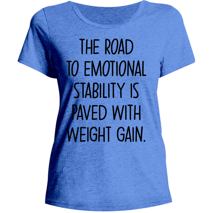 Road To Emotional Stability - Ladies Relaxed Fit Tee - Graphic Tees Australia