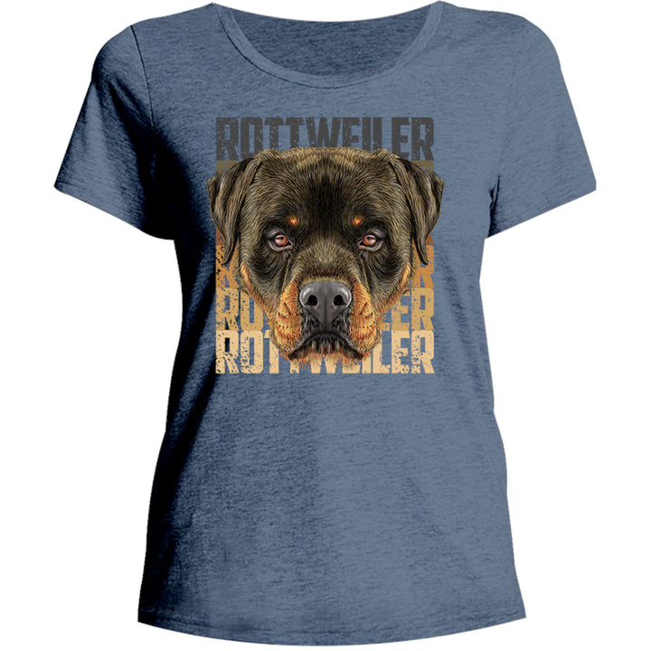 Rottweiler - Ladies Relaxed Fit Tee - Graphic Tees Australia