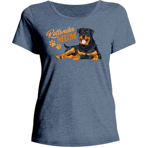 Rottweiler Mum - Ladies Relaxed Fit Tee - Graphic Tees Australia