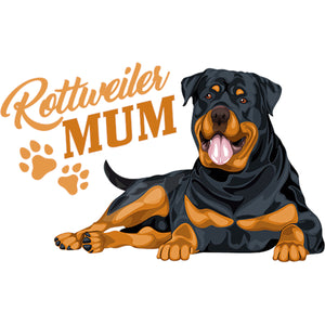 Rottweiler Mum - Adult & Youth Hoodie - Graphic Tees Australia