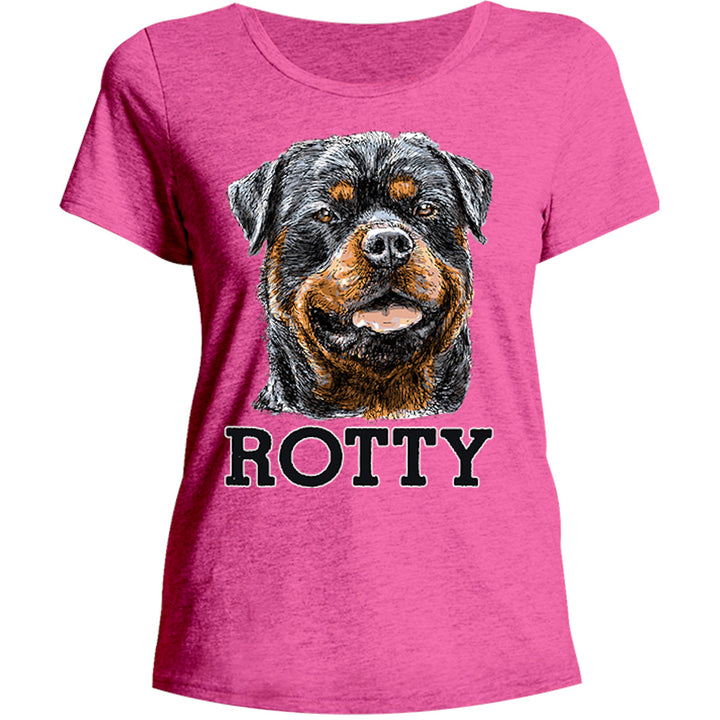 Rotty - Ladies Relaxed Fit Tee - Graphic Tees Australia