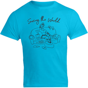 Saving The World - Unisex Tee - Graphic Tees Australia
