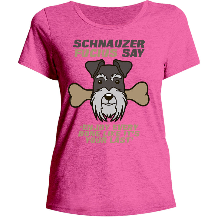 Schnauzer Fucius Say - Ladies Relaxed Fit Tee - Graphic Tees Australia