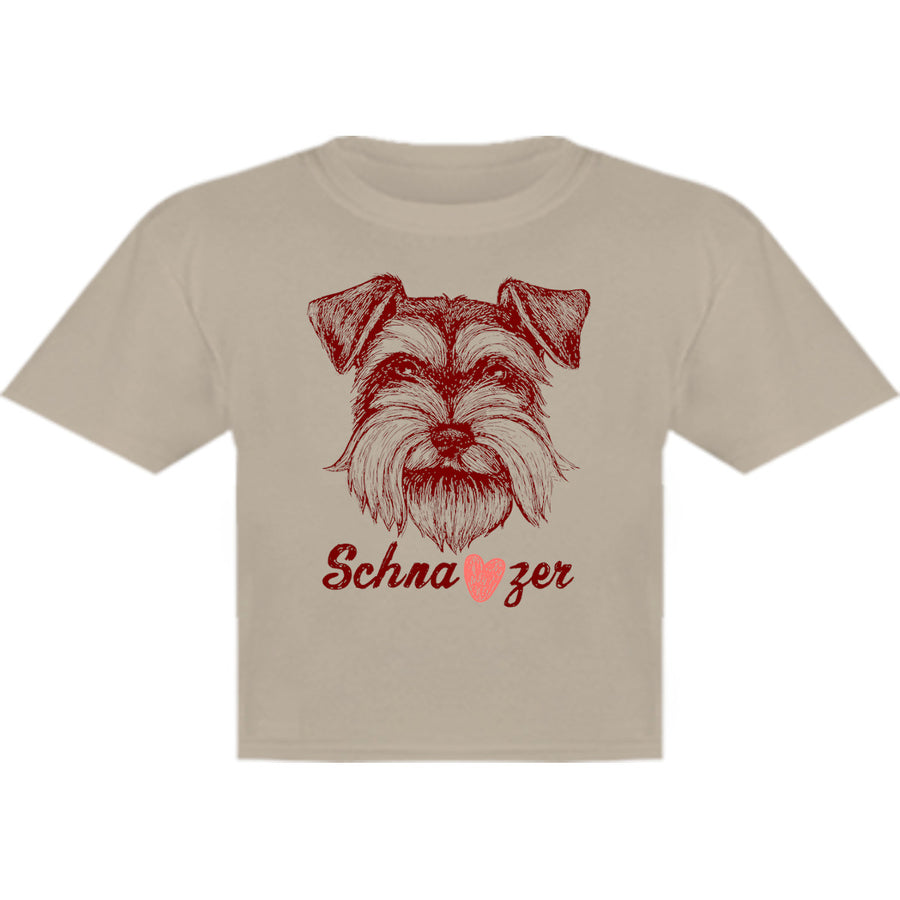Schnauzer Heart - Youth & Infant Tee - Graphic Tees Australia