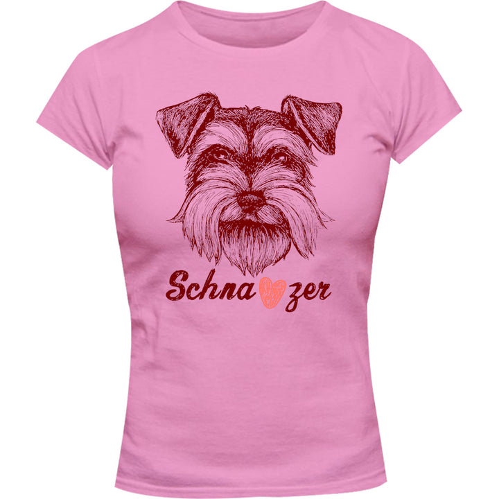 Schnauzer Heart - Ladies Slim Fit Tee - Graphic Tees Australia