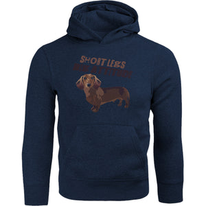 Short Legs Big Attitude - Adult & Youth Hoodie - Graphic Tees Australia