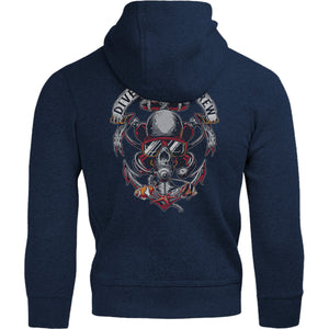 Skull Dive Crew - Adult & Youth Hoodie - Graphic Tees Australia
