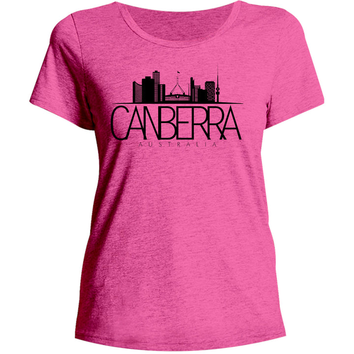 Skyline Canberra Australia - Ladies Relaxed Fit Tee - Graphic Tees Australia