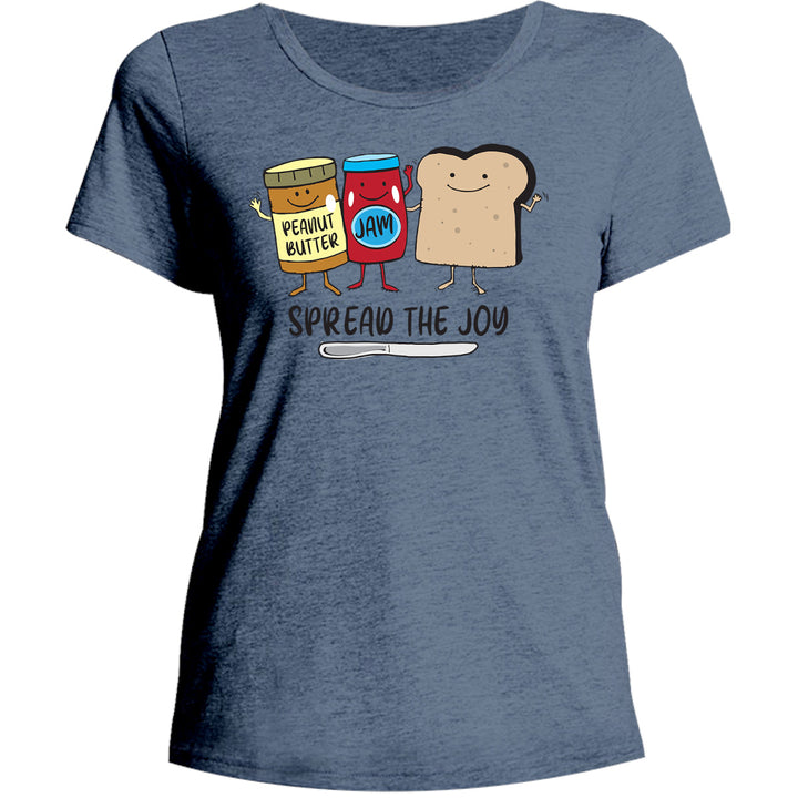 Spread The Joy - Ladies Relaxed Fit Tee - Graphic Tees Australia