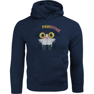 Stay Pawsitive - Adult & Youth Hoodie - Graphic Tees Australia