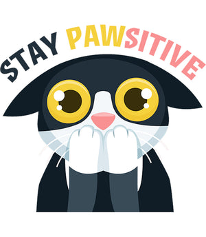 Stay Pawsitive - Ladies Slim Fit Tee - Graphic Tees Australia
