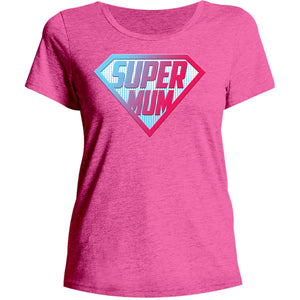 Super Mum - Ladies Relaxed Fit Tee - Graphic Tees Australia