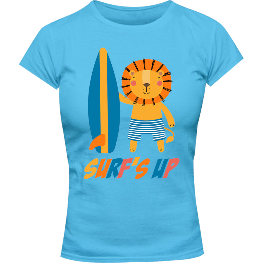 Surf's Up - Ladies Slim Fit Tee - Graphic Tees Australia
