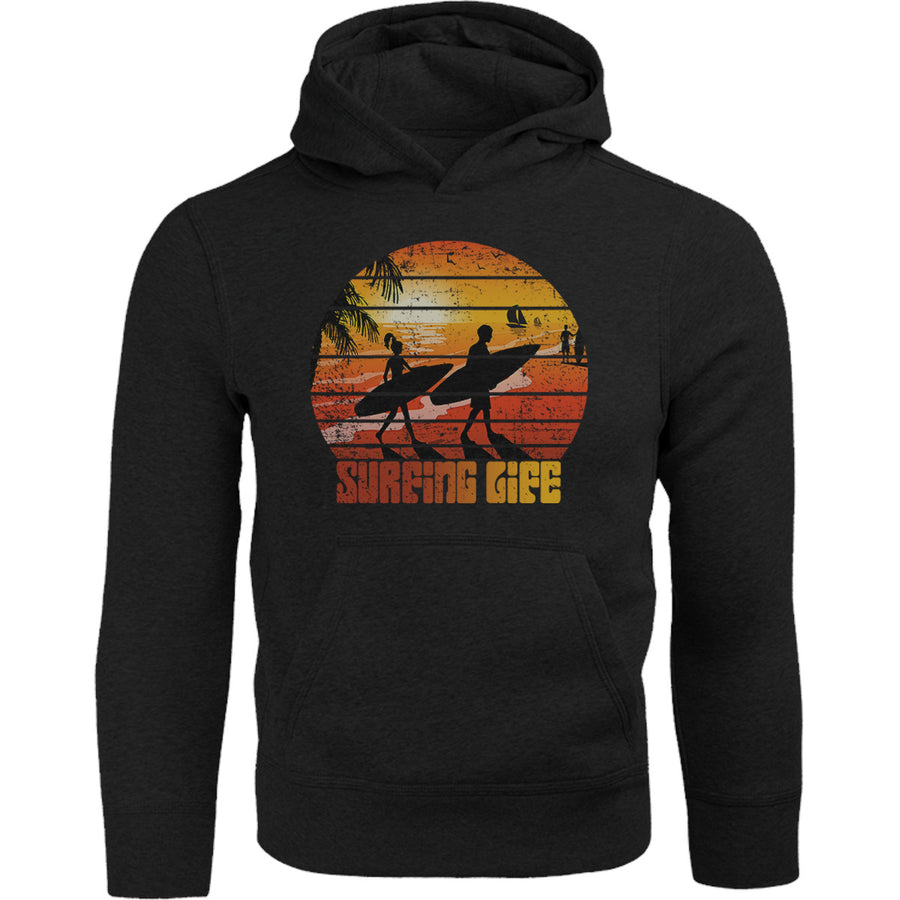 Surfing Life - Adult & Youth Hoodie - Graphic Tees Australia