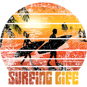 Surfing Life - Ladies Slim Fit Tee - Graphic Tees Australia