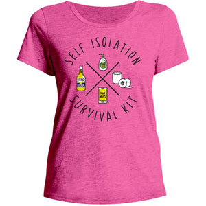 Survival Kit - Ladies Relaxed Fit Tee - Graphic Tees Australia