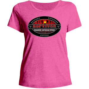 Survivor - Ladies Relaxed Fit Tee - Graphic Tees Australia