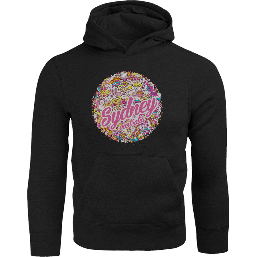 Sydney Australia Character Ball - Adult & Youth Hoodie - Graphic Tees Australia