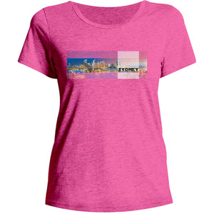 Sydney Australia Landscape - Ladies Relaxed Fit Tee - Graphic Tees Australia