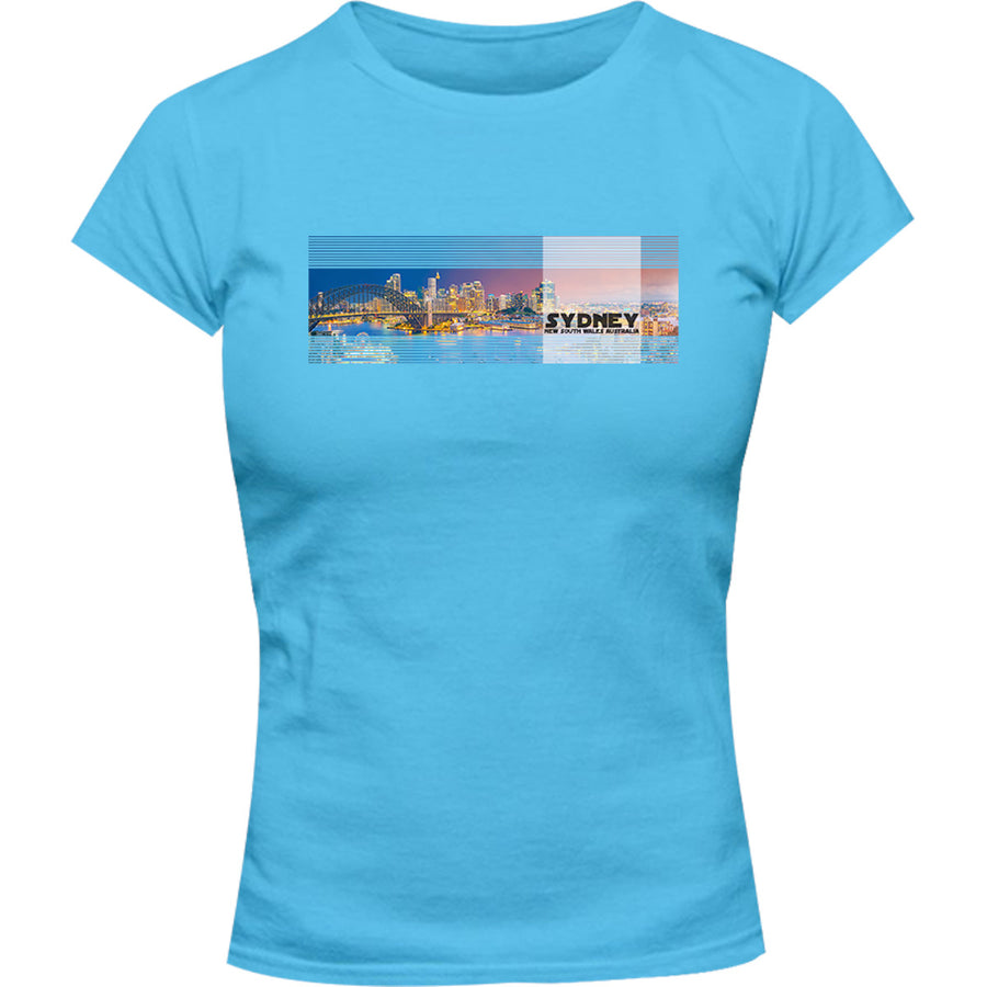Sydney Australia Landscape - Ladies Slim Fit Tee - Graphic Tees Australia
