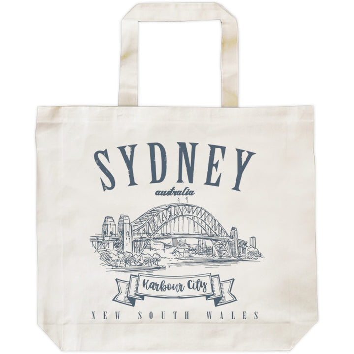 Sydney Australia Vintage mono - Shopping Bag - Graphic Tees Australia