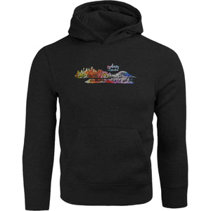 Sydney Australia Watercolour Sketch - Adult & Youth Hoodie - Graphic Tees Australia