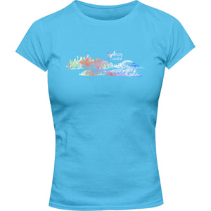 Sydney Australia Watercolour Sketch - Ladies Slim Fit Tee - Graphic Tees Australia