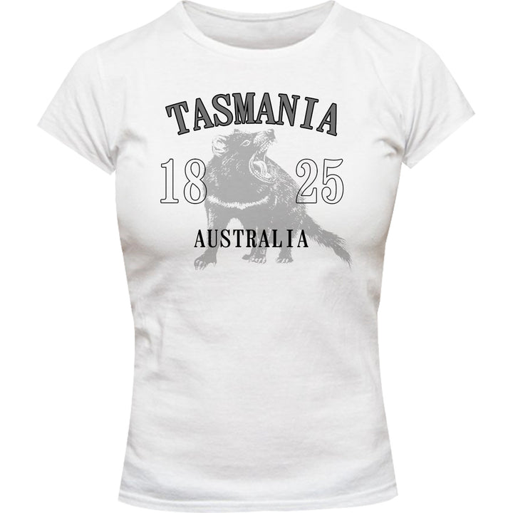 Tasmania Australia Devil - Ladies Slim Fit Tee - Graphic Tees Australia
