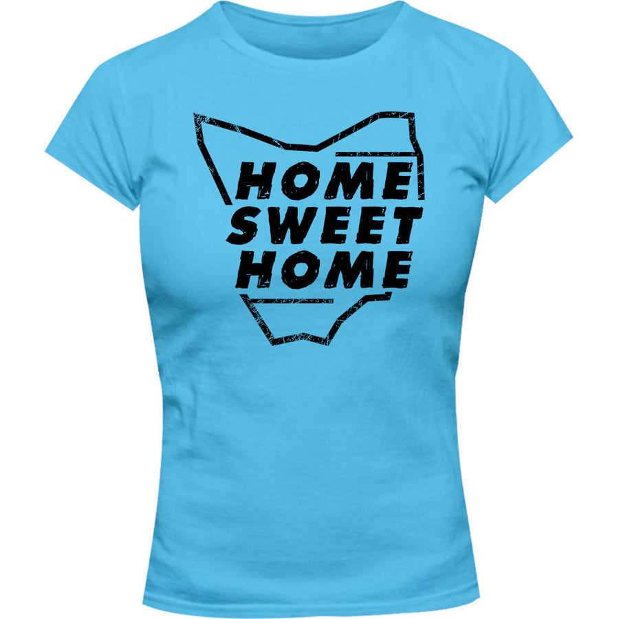 Tasmania Home Sweet Home - Ladies Slim Fit Tee - Graphic Tees Australia